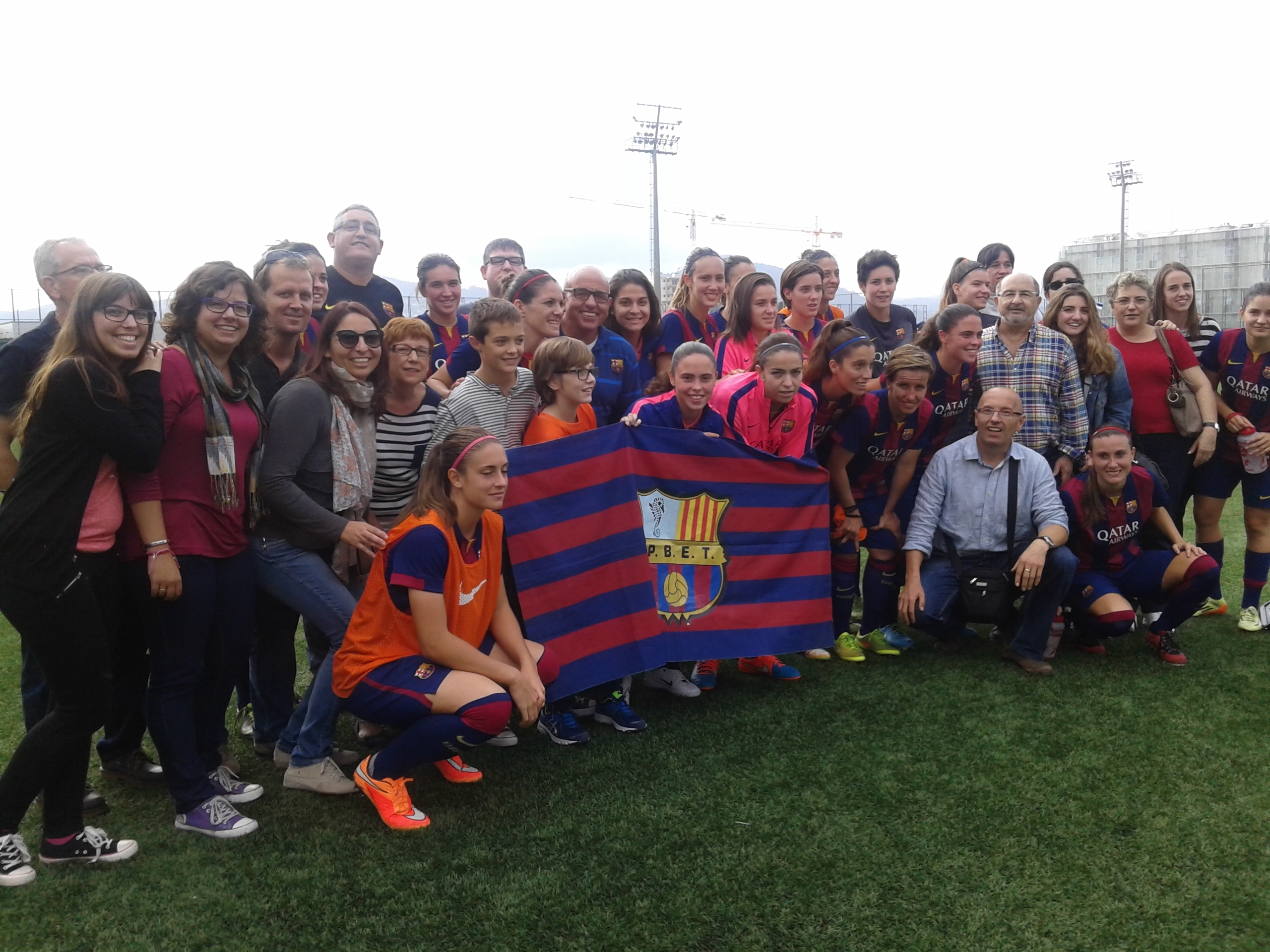 La PB Tamarells amb el Barça femení