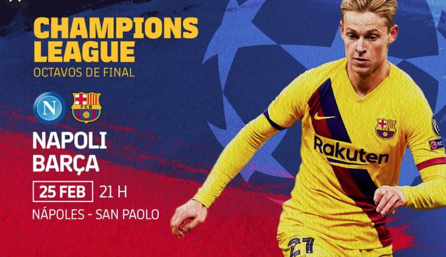 Octaus de final Napoli - Barça