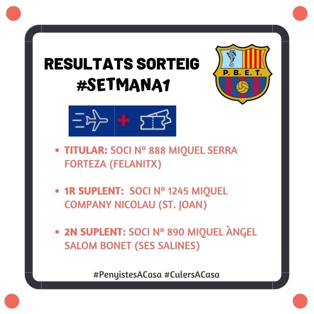Resultats setmana 1
